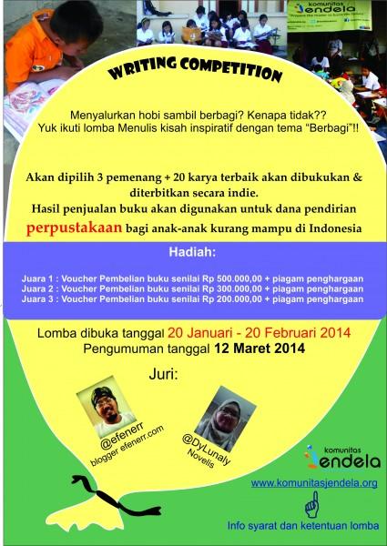 Poster Lomba Menulis Final